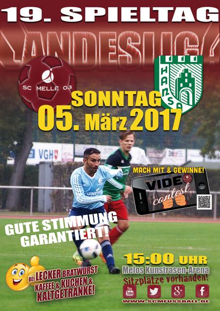 SC MELLE 03 Fussball Landesliga 19. Spieltag