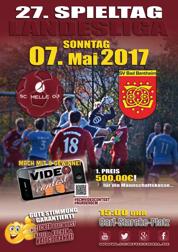 Spieltag 27 Fußball Landesliga Weser-Ems 16/17 SC MELLE 03 gegen SV Bad Bentheim