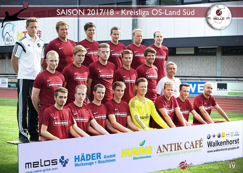 SC Melle 03 - Fussball Kreisliga Osnabrück-Land Mannschaftsfoto U23 - zweite Herren