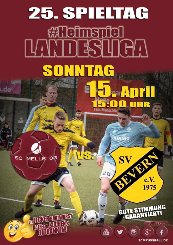 Spieltag 25 Fußball Landesliga Weser-Ems 17/18 SC MELLE 03 gegen SV Bevern